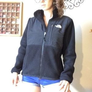 THE NORTH FACE Zip Up All Black Fleece Jacket